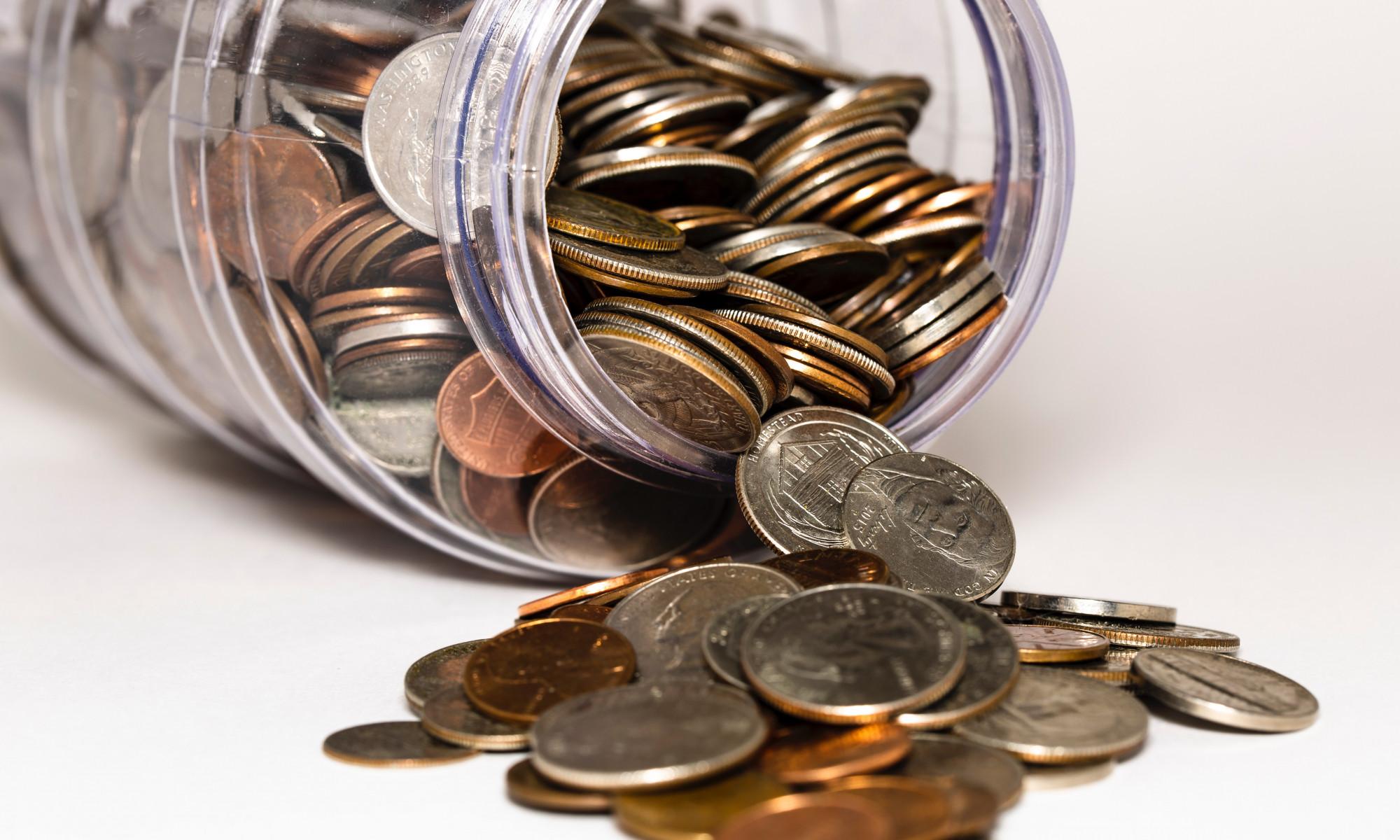 Budget: Spardose mit Cents