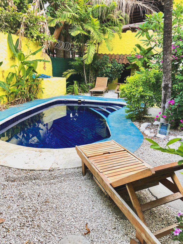 Blick auf unseren Pool in Sámara