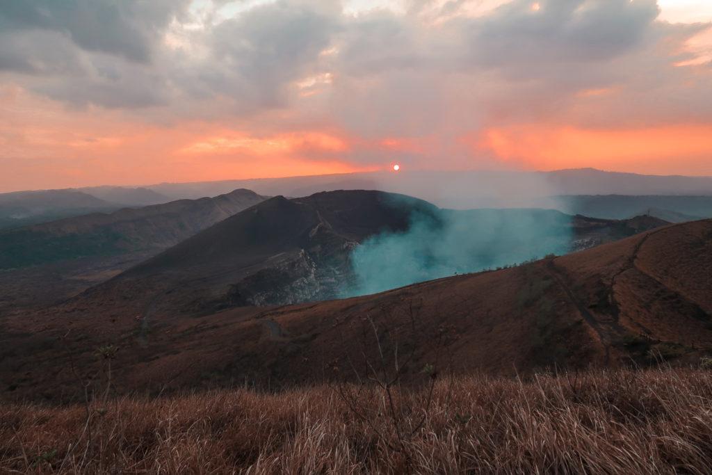 Sonnenuntergang im Masaya Vulkan Nationalpark