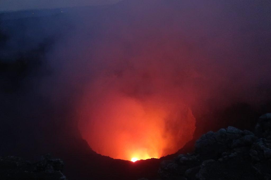 Der Blick in den Masaya Vulkan