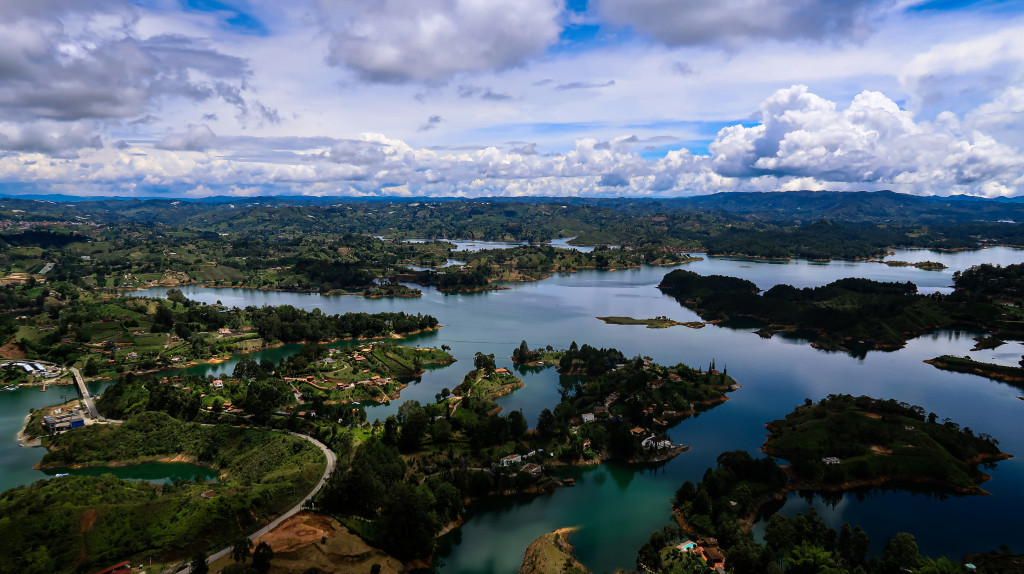 Blick auf die Seen vor Guatape