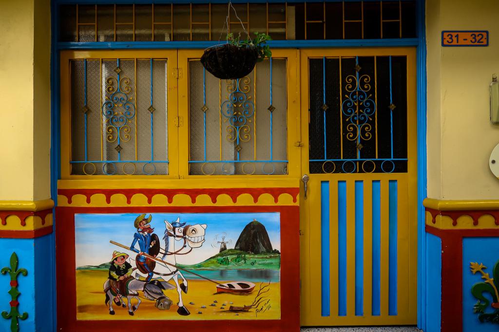 Die butnen Häuser in Guatape