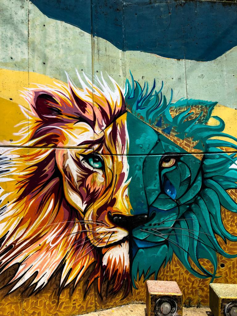 Löwe Streetart