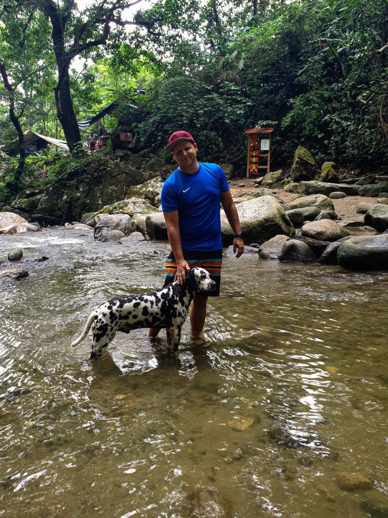 Michi mit Hund