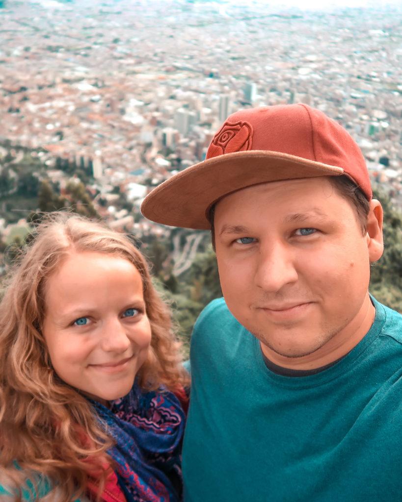 Aussicht vom Hausbergs Bogotas