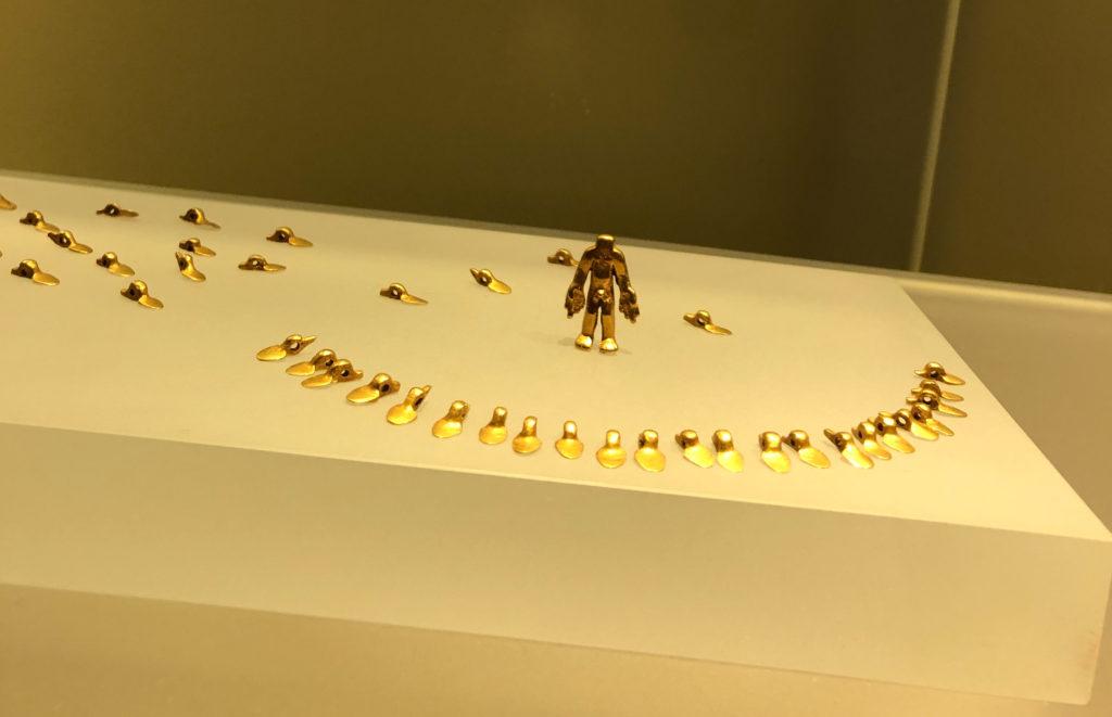 Ausstellungsstücke im Goldmuseum in Bogotá