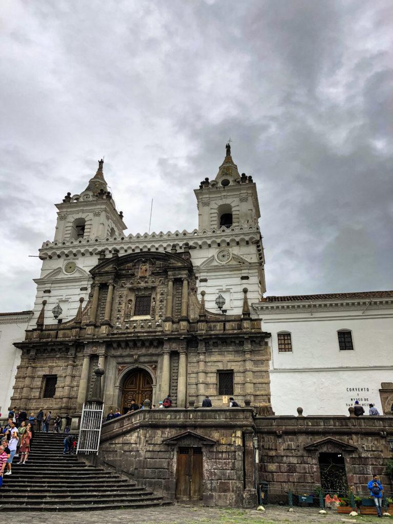 Gebäude im historischen Zentrum von Quito